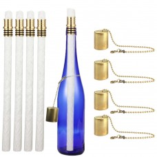 EricX Light Wine Bottle Tiki Torch Kit 4 Pack