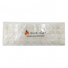 EricX Light 120 pcs Candle Wick Stickers,Made of Heat Resistance Glue Adhere Steady in Hot Wax For Candle Making